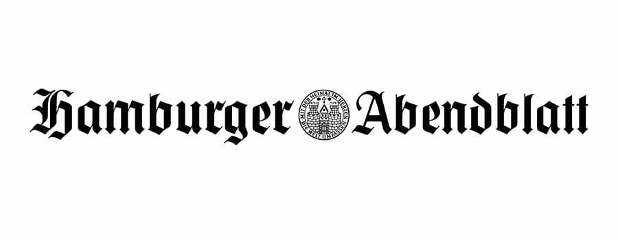 schwarzes Logo von Hamburger Abendblatt
