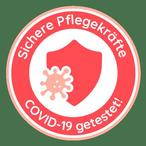 Covid-19 Sicher getestet Pflegehelden Siegel