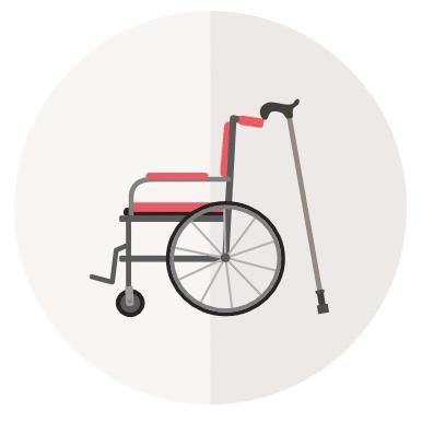 Abbildung von einem Rollstuhl