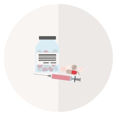 Abbildung von Medikamenten